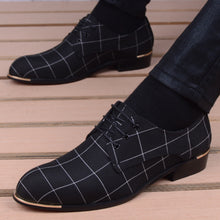 Load image into Gallery viewer, Men Classic Business Shoes Man Dress Shoes Fashion Korea Pointed Toe Lace-Up Formal Wedding Shoes Men Black Lattice 2020 New - DivaJean