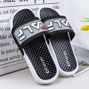 Men Shoes Solid Flat Bath Slippers Summer Sandals Indoor Outdoor Slippers Casual Men Non-slip Flip Flops Beach Shoes Beach - DivaJean