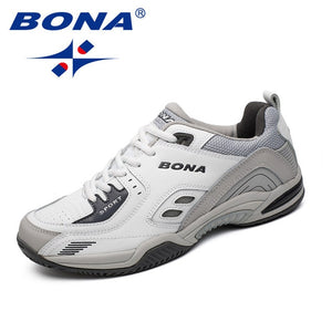 BONA New Popular Style Men Tennis Shoes Outdoor Jogging Sneakers Lace Up Men Athletic Shoes Comfortable Light Soft Free Shipping - DivaJean