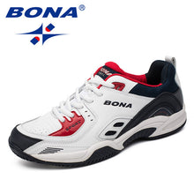 Load image into Gallery viewer, BONA New Popular Style Men Tennis Shoes Outdoor Jogging Sneakers Lace Up Men Athletic Shoes Comfortable Light Soft Free Shipping - DivaJean