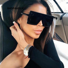 Load image into Gallery viewer, Sunglasses Square Women Sun Glasses Female Eyewear Eyeglasses Plastic Frame Clear Lens UV400 Shade Fashion Driving New - DivaJean