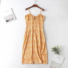 Load image into Gallery viewer, Sexy v neck boho dress women flower print summer dress 2020 new short ruffle dress casual chic holiday mini yellow dress vestido - DivaJean