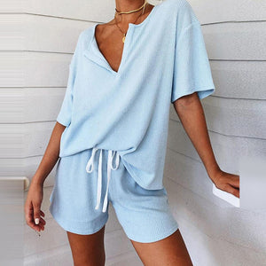 Sexy Off Shoulder Tops And Striped Shorts Suits Spring Summer Women Two Piece Sets Causal Printed Tracksuit Sportswear Outfit XL - DivaJean