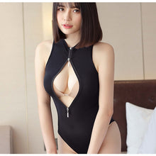Load image into Gallery viewer, Sexy Women Sukumizu Body Suit High Cut Cosplay Swimsuit See-through Japanese Sleeveless Leotard Backless Wetlook Bathing Suit - DivaJean