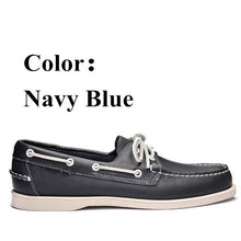 Load image into Gallery viewer, Men Genuine Leather Driving Shoes,New Fashion Docksides Classic Boat Shoe,Brand Design Flats Loafers For Men Women X161 - DivaJean
