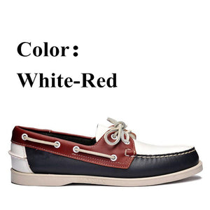 Men Genuine Leather Driving Shoes,New Fashion Docksides Classic Boat Shoe,Brand Design Flats Loafers For Men Women X161 - DivaJean