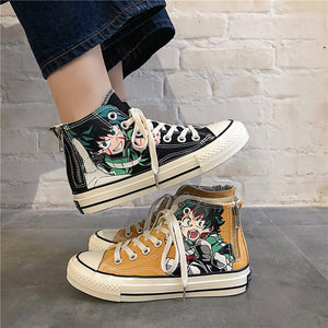 Anime cartoon fashion students high help  cosplay cos My Hero Academia  shoes canvas shoes casual comfortable men and women - DivaJean