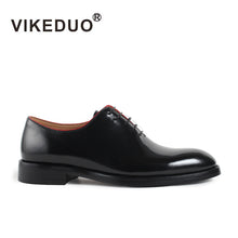 Load image into Gallery viewer, Vikeduo 2020 Handmade Brand Italy Shoes Fashion Blake Wedding Party Office Male Dress Shoe Genuine Leather Mens Oxford Zapato - DivaJean