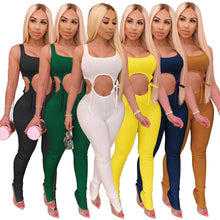Load image into Gallery viewer, Summer Women's Tight Sexy Suit 2 Two Piece Set Tracksuit Women Matching Sets Bodycon Sweat Pants Fitness Clothing Outfits - DivaJean