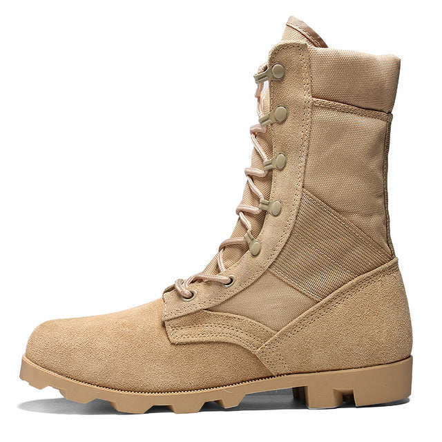 Professional Tactical Military Boots Men Fashion Work Shoes Waterproof Suede Army Combat Boots Women Ankle Boots Big Size 35-46 - DivaJean