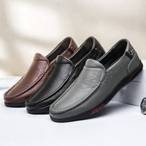 2020 fashion men's shoes casual genuine leather cow loafers male breathable summer slip on shoe man flats driving shoes for men - DivaJean