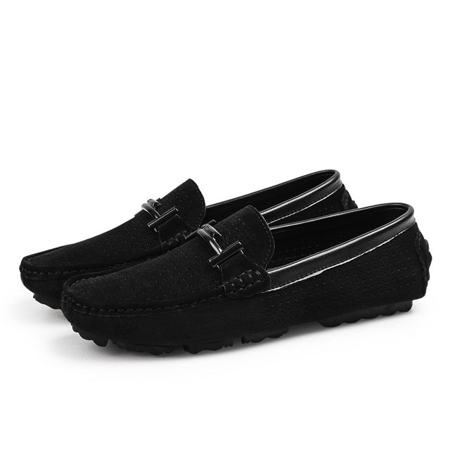 Summer Brand Men Loafers Men's Casual Shoes Suede Leather Mocassim Masculino Breathable Slip on Boat Shoes Chaussures Hommes 45 - DivaJean
