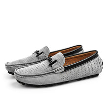 Load image into Gallery viewer, Summer Brand Men Loafers Men's Casual Shoes Suede Leather Mocassim Masculino Breathable Slip on Boat Shoes Chaussures Hommes 45 - DivaJean