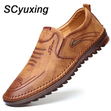 Load image into Gallery viewer, 2020 New Men Microfiber Leather Shoes 38-44 Anti-slip Soft Tendon Bottom Outsole Man Casual Bussiness Youth Leather Loafers - DivaJean