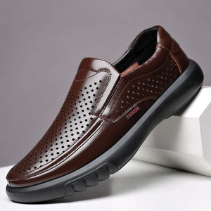 2020 Newly Men's Genuine Leather Shoes Size 38-47 Head Leather Soft Anti-slip Driving Shoes Man Spring Leather Shoes - DivaJean