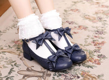 Cargar imagen en el visor de la galería, Lolita Shoes Cosplay Kawaii Shoes Anime Sweet Lolita Shoes Tea Party High Heel Princess Bow Mary Jane Loli Shoes - DivaJean