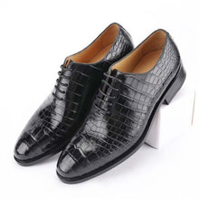 Load image into Gallery viewer, hujingsha thailand Siam crocodile male crocodile leather shoes business male formal men shoes male shoes - DivaJean