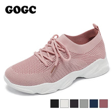 Load image into Gallery viewer, GOGC breathable mesh sneaker women casual sneaker sports shoes 2020 spring summer lace up women shoes chaussures femme G692 - DivaJean