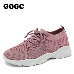 GOGC breathable mesh sneaker women casual sneaker sports shoes 2020 spring summer lace up women shoes chaussures femme G692 - DivaJean