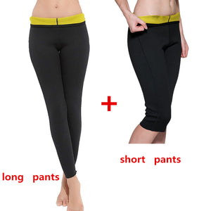 Women Body Shapers Long Pants Slimming Sweat Sauna Sexy  Pants Waist Trainer Super Stretch Control Corset Lose Weight Shaperwear - DivaJean