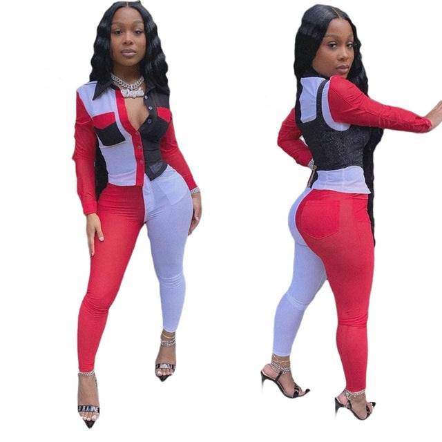Plus Size 2 Piece Sets Womens Outfits Pants and Top Set Sweat Suits Sexy Club Birthday Two Piece Outfits for Women Set Clothing - DivaJean