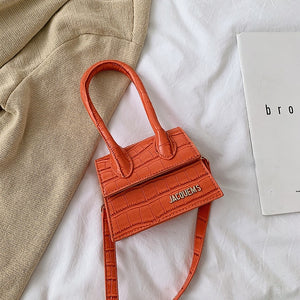 Designer Brand Luxury Mini Women Bag Letters Crossbody Bags For Women 2020 High Quality PU Leather Purses Crocodile Handbags - DivaJean