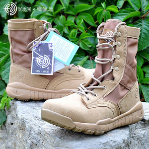 2018 Spring Men Military Boot Black Breathable Canvas Ultra light Desert Shoes Mens Combat Ankle Tactical Army Boots - DivaJean