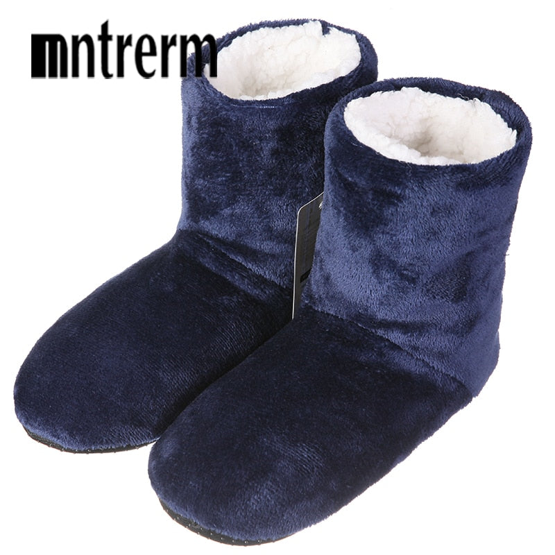 Mntrerm New Winter Plush Slippers Men Home Slippers botas Fashion Warm Shoes Men Autumn Slippers Home Shoes Large Size Hot Sale - DivaJean
