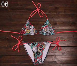 2019 Arrival Sexy Bikinis Women Swimsuit Push Up Swimwear Summer Beach Wear Printed Brazilian Bikini Set Bathing suits Swim Wear - DivaJean