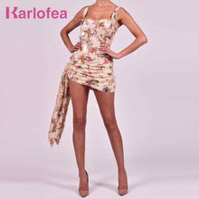 Cargar imagen en el visor de la galería, Karlofea Office Lady Slim Wrap Dresses Sexy Ruched Glitter Sequined Club Night Party Wear Chic Draped Gorgeous Outfits Sundress - DivaJean