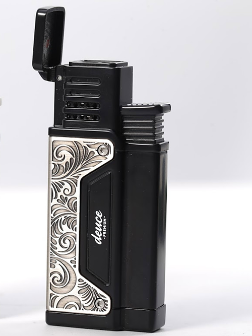 Brushed Finish Black Cigar Torch Lighter