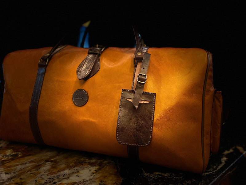 The Weekender - Butterscotch & Mocha Deuce Premium Duffle Bag