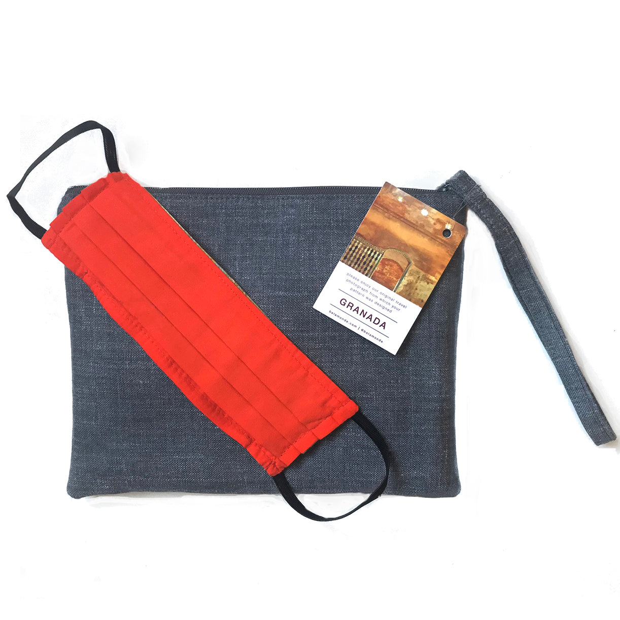 Granada Print Gift Set: Clutch and Face Mask