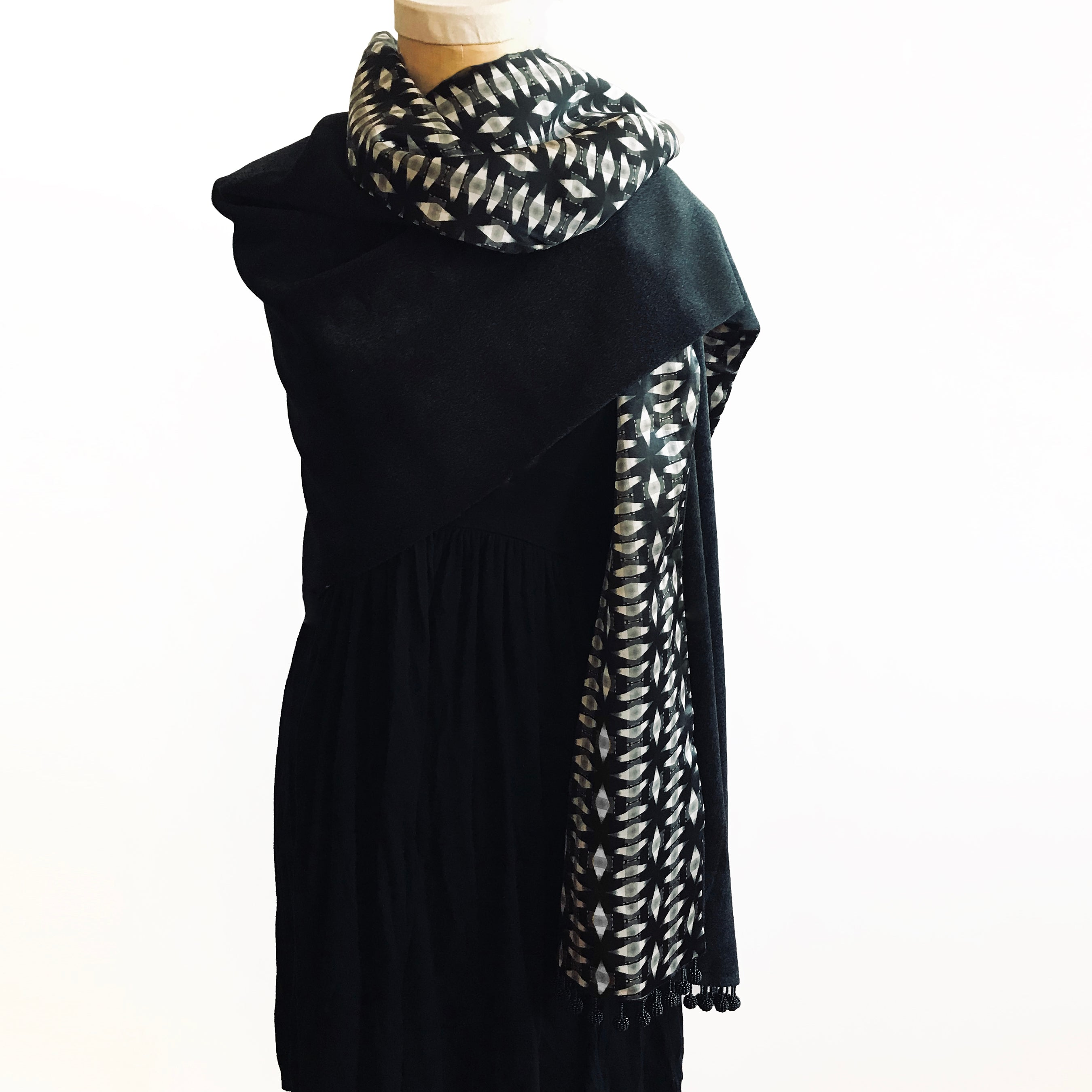 Reversible Melbourne Print Silk Wrap