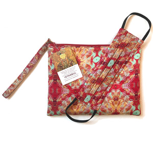 Istanbul Print Gift Set: Clutch and Face Mask