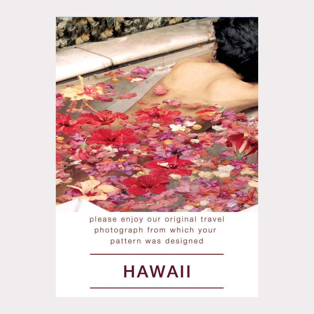 Hawaii Silk Print Scarf