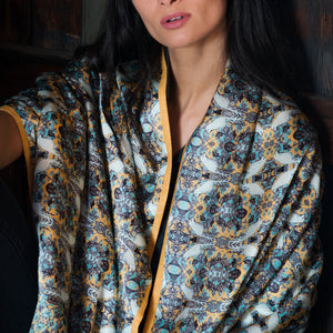 Hong Kong Print Silk Wrap