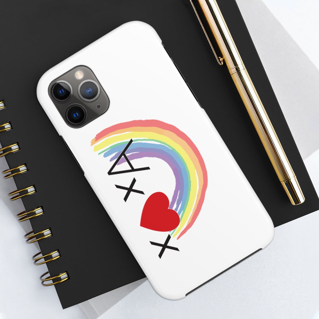 Love Everyone: Symbolic Logic Tough Phone Case