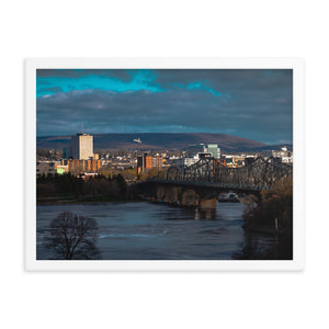Gatineau and Ottawa River: Framed Photo Art
