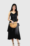 Melissa Two Tier Dress in Black