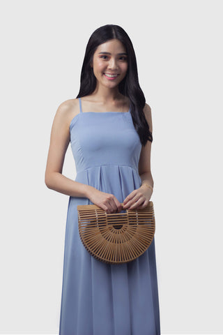 Laura Maxi Dress in Pastel Blue