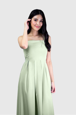 Laura Maxi Dress in Pastel Green