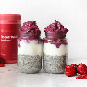 Berry Smoothie Chia Jars