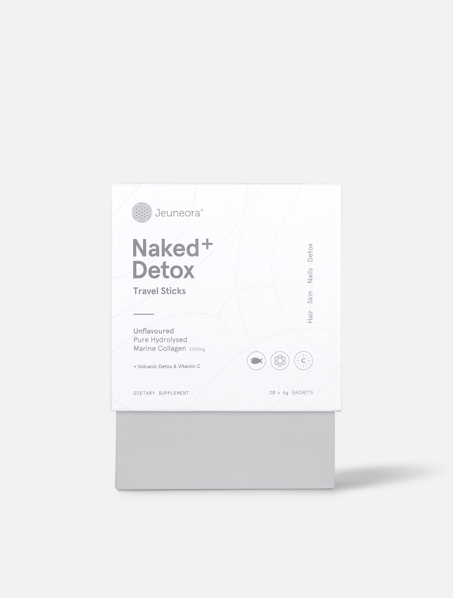 Jeuneora Naked+ Detox Marine Collagen Travel Sticks