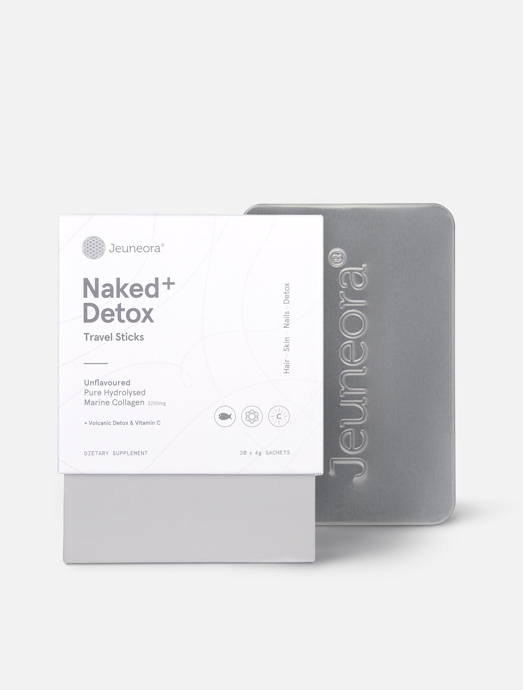 Naked+ Detox Travel Sticks and Jeuneora® Travel Tin