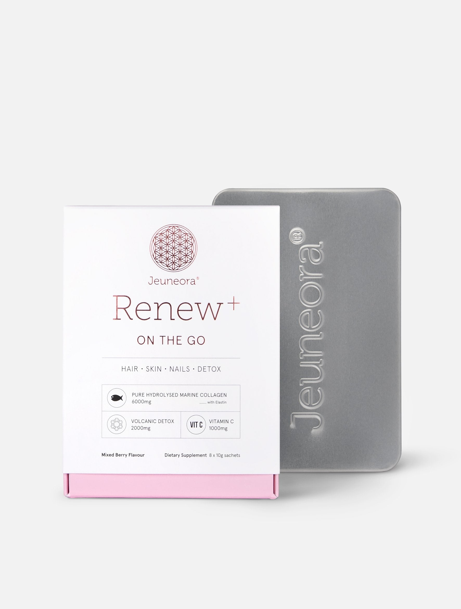 Renew+® On the Go and Jeuneora® Travel Tin