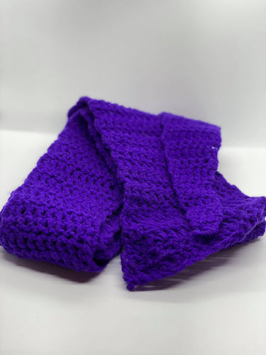 Purple Crochet Scarf