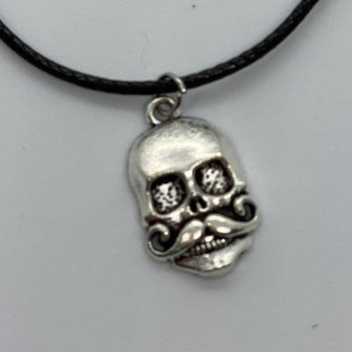 Skull with Mustache Necklace