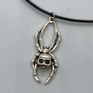 Skeleton Spider Necklace