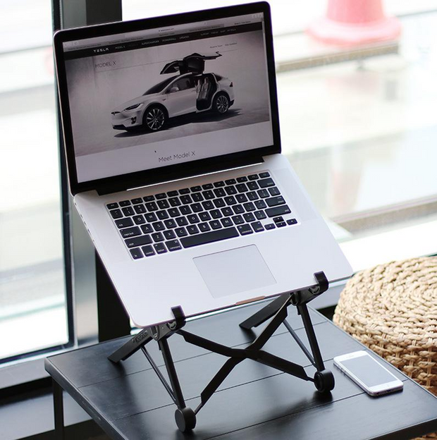Laptop nylon portable and adjustable stand